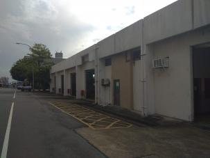 桃園機場修護工廠整修裝備維護修車工場屋頂防水及外牆粉刷工程案